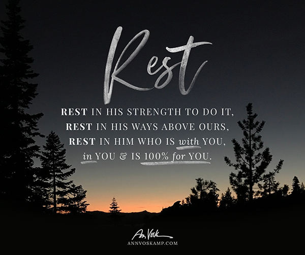 Rest in His strength