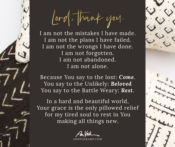 I am not the mistakes I have made