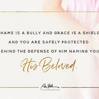 Shame is a bully and grace is a shield and you are His Beloved