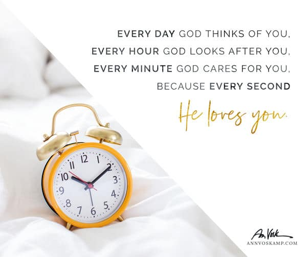Every day God thinks of you