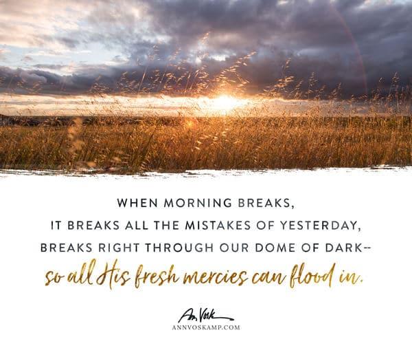 When morning breaks