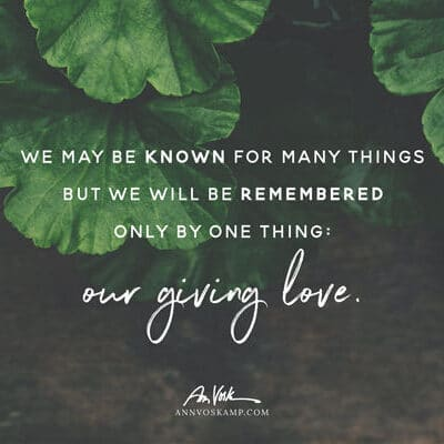 Our Giving Love