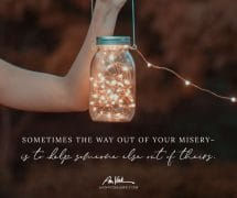 The way out of your own misery