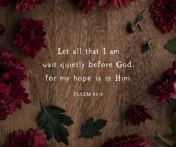 Let all that I am wait quietly before God