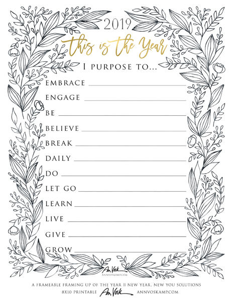 2109 – This is the Year Printable, floral