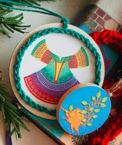 Printable Color Ornaments: 3×3