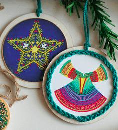 Printable Color Ornaments: 2×2