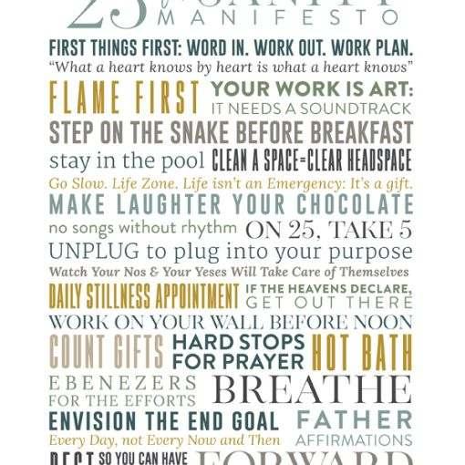 25-Point Sanity Manifesto v1