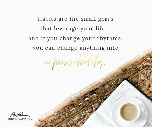 Habits are the small gears that leverage your life