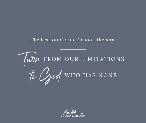 Turn from our limitations to God