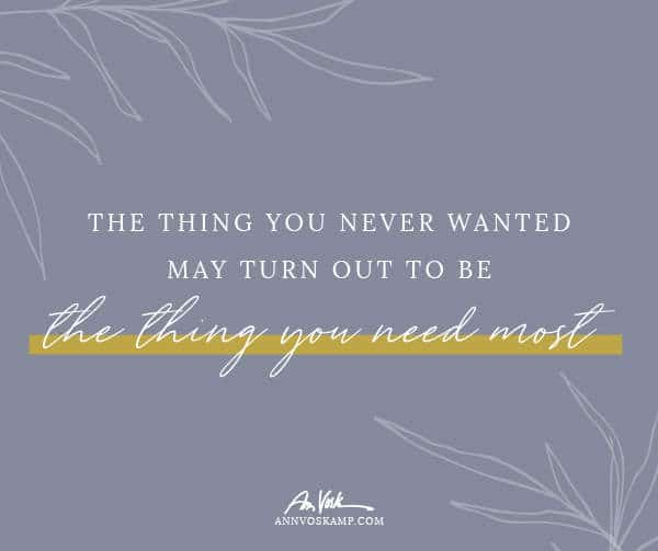 The Thing You Never Wanted