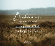 Brokenness happens…