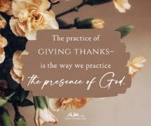 The practice of giving thanks